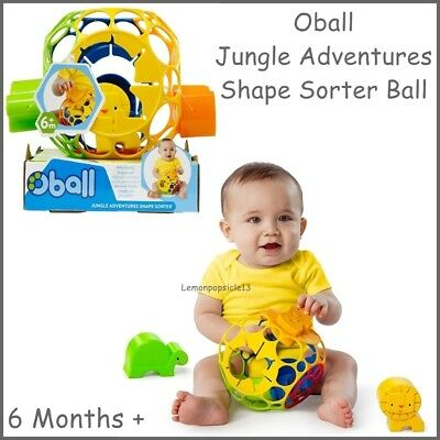 Oball Jungle Adventures Shape Sorter Ball Educational Baby Toy