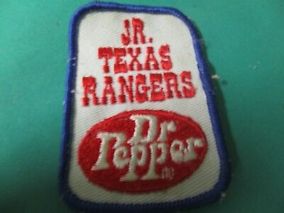 Dr Pepper Cloth Patch For Jr. Texas Rangers