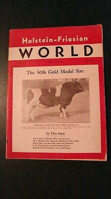HOLSTEIN WORLD 1945  BREEDS 50th GOLD MEDAL SIRE + BLUE RIBBON SALE INSERT BOOK