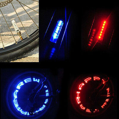 Bicycle Flash 7LED Lights Neon Bike Motorcycle Lamp Tire Spoke Wheel Valves NEW.