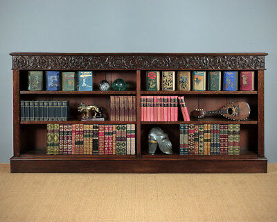 Antique Late 19th Oak Open Bookcase c.1880.