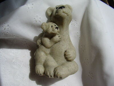 QUARRY CRITTERS Polar Bears Figurine/Second Nature Design,Banjo & Bandit/2002