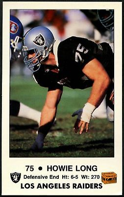 Howie Long #3 of 4 Los Angeles Raiders Fire Safety Trade Card (C1241)