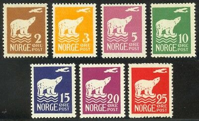 Norway #104-110 Fault Free Mint Never Hinged Set of 7