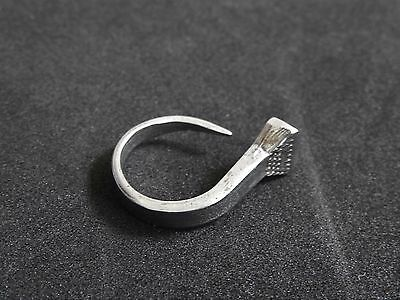 HORSESHOE NAIL RING so cool approx size 6.5 adjustable horses equestrian