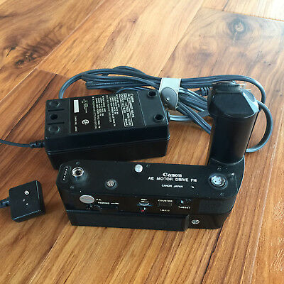 Canon AE Power Winder Motor Drive FN w/ Ni-Cd Battery Pack for F-1 Film Camera
