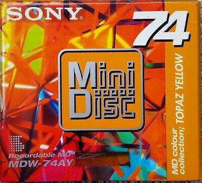 Sony Mini Disc Topaz Yellow MDW-74AY