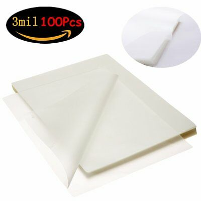 3 Mil Clear Letter Size Universal Thermal Laminating Pouches 9 x 11.5 100 Sheets