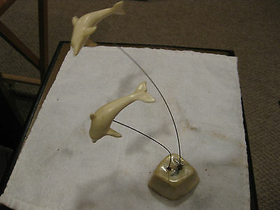 MW: VINTAGE DOLPHIN DOLPHINS SCULPTURE (FROM THE 1950's)