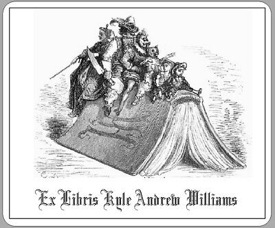 Personalized Ex Libris Bookplate With a Gustave Dore Image Free 1St Class Ship