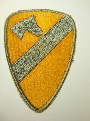 A   WW 2 U S Army 1st Cavalry Division  Cut Edge White Back Patch