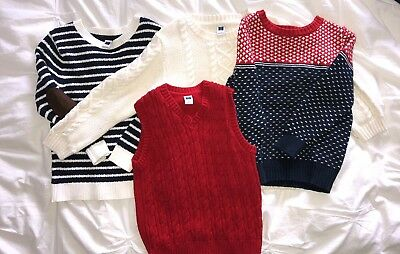 Boys 4T Sweater Lot Of 4 Janie and Jack