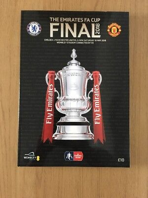 2018 FA CUP FINAL OFFICIAL PROGRAMME *CHELSEA vs MANCHESTER UNITED*(19/05/2018)