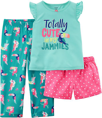 Carters Little Girls 3-pc. Totally Cute Pajama Set