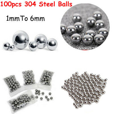 1-6mm Bicycle Durable 304 Stainless Steel DIY Precision Ball Bearings x100