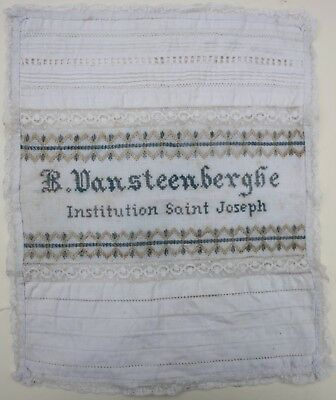 INTERETING Late 19th CENTURY FRENCH SCHOOL SAMPLER SAINT JOSEPH INSTITUTION