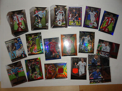 Ca 60 Soccer Trading cards mit Inserts Fussball Select 2015/16