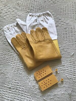 Beekeeping Leather Gloves XXL Plus 2 Queen Cages