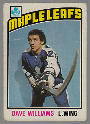 1976-77 Opc O Pee Chee #373 Dave Williams Vg Toronto Maple Leafs Hockey Rookie