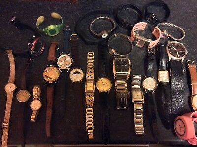 joblot watches, some Working. Rotary, Swatch, Ect.