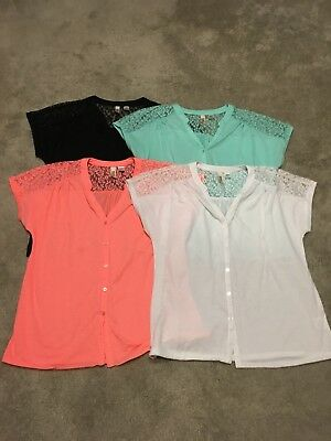 Womens Lot Of Summer Tops blouses Sz Large 12/14