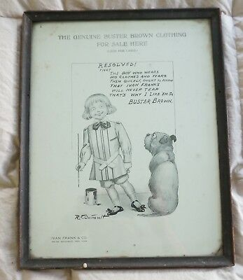 || Antique Buster Brown Advertising Poster Ivan Frank & Co Broadway NY : 014 ||