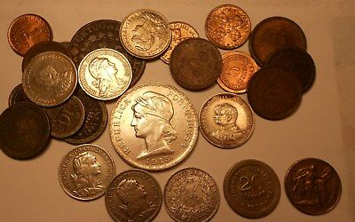 portugal lot of 15 coins with 20 centavos 1922 & 50 centavos 1925 changed date