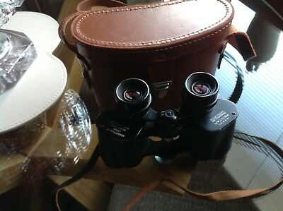 Asahi Pentax Binoculars 8 x 30 Field 0 - 75 - No 4617365 With Leather Case