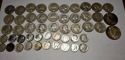 $10 Face Value Lot Of Old US Minted Mixed 90% Silver Coins! No Junk!