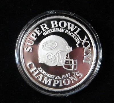 1oz .999 silver 1997 Super Bowl XXXI Green Bay Packers Coin .99 Auction