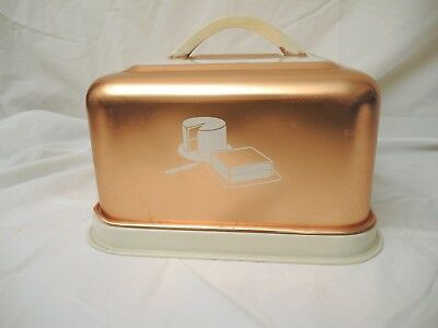 Vintage Mirro Square Copper Colored Cake Carrier/cover/saver - Locking Lid