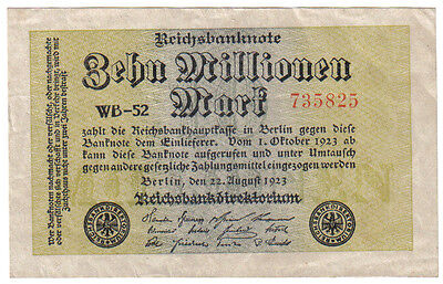 Germany 10 Million 10.000.000 Mark 1923 Pick 106 A Look Scans