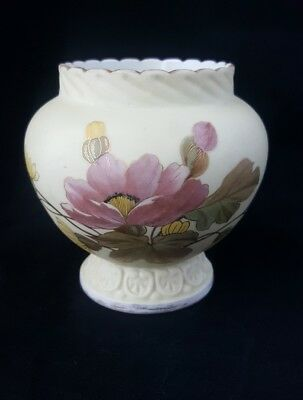 """Antique R W Germany Porcelain Vase Hand painted, Numbered, Signed 4.5"""" Tall"""