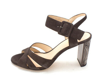 33326a4361cb Nine West Womens crossroad Leather Open Toe Ankle Strap Classic