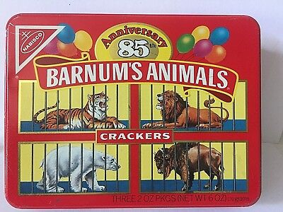 BARNUM'S ANIMALS® CRACKERS tin Limited Edition 85th Anniversary 1987 Circus