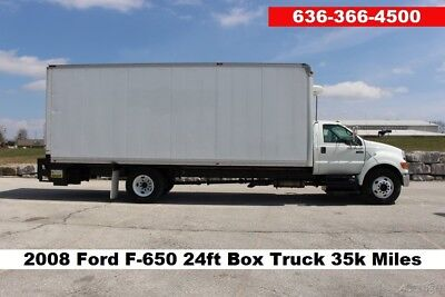 08 Ford F-650 24ft Box Truck Moving 6.7 Cummins Diesel reefer refrigeration Used
