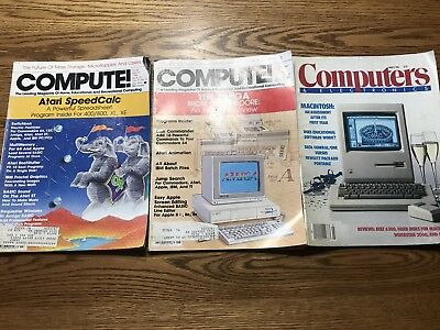 Vintage Lot Of 1980's Compute Magazines.