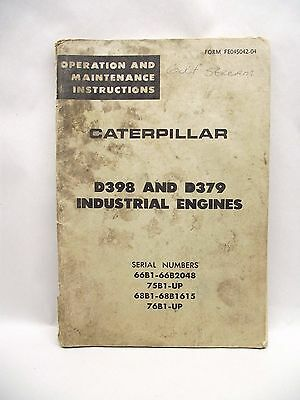 CATERPILLAR D398 And D379 Industrial Engines Operation Maintenance Instructions