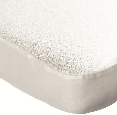 Travel Cot Water Resistant Mattress Protector  - Terry Towelling - 1394190,