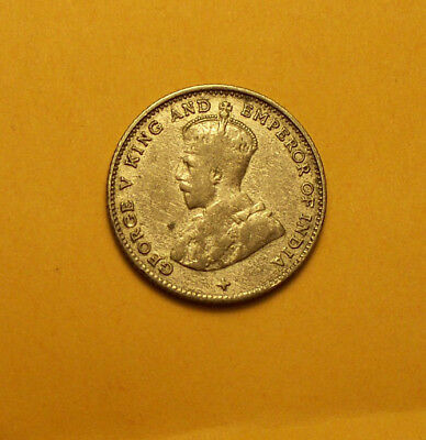 ~ 1919 Straits Settlements Silver 10 Cents George V King And Emperor Of India ~