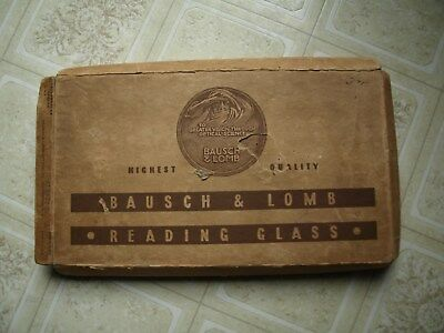 1940's?  Bausch & Lomb Reading glass, rectangular magnifier, with box