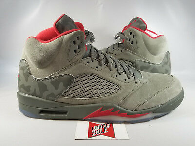 4937d7285e849a NIKE AIR JORDAN Retro V 5 Camo Size 6-17 Dark Stucco University Red ...