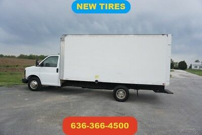 2008 GMC Savana 3500 16ft box truck delivery cargo moving ramp Used new tires