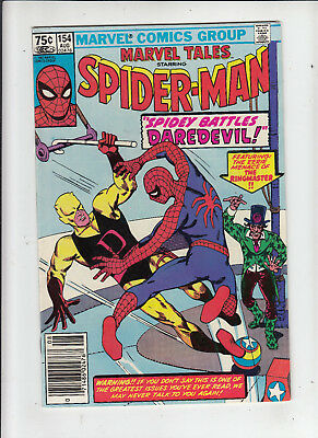 Marvel Tales #154 Spider-Man 75 Cent Canadian Newsstand Price Variant VF-