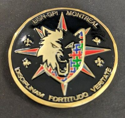 RCMP Royal Canadian Mounted Police Canada EISN/INSET Montreal Challenge Coin
