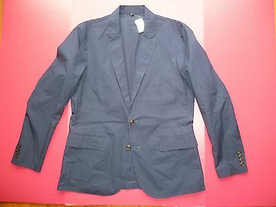 NEW! J Crew Ludlow Blazer 44R Solid NAVY Dual Vent UNLINED Unstructured NWT