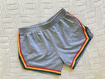 Roller Derby Rainbow Stripe Grey Shorts CAMP COLLECTION SIZE 12