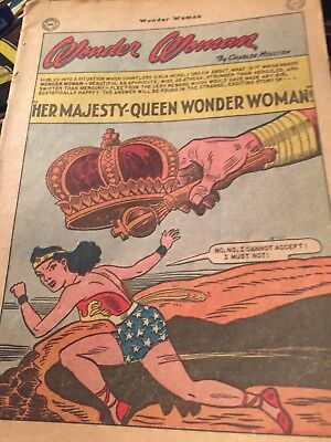 WONDER WOMAN Golden Age Comic Book #52 NO COVER 1952-BATTLE FOR FAIRYLAND