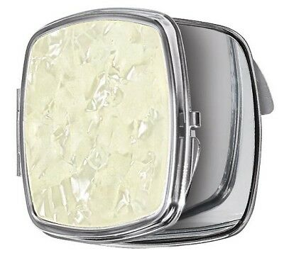 AVON MIRROR COMPACT Faux Mother of Pearl Accent  w/ 3X MAGNIFICATION  **SEALED**