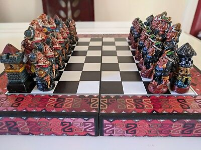 Wooden Chess Set South America Themed Set Made in Peru Free Postage